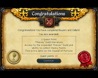 Buyers and Cellars [RS3 Quest]