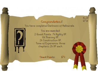 Darkness of Hallowvale (OSRS Quest)