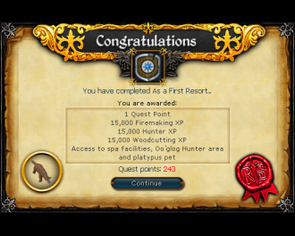As a First Resort [RS3 Quest]
